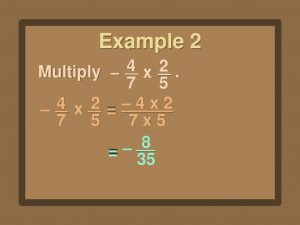 Example of Multiply Fractions