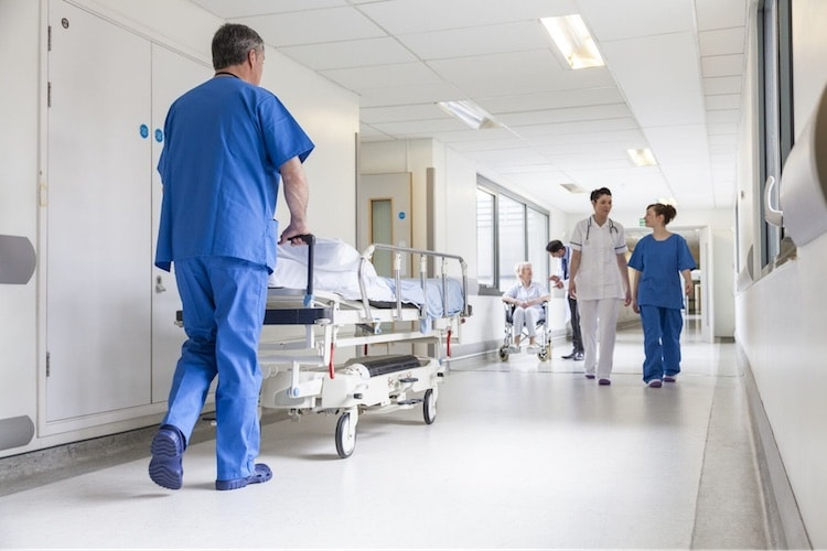 a busy environment in a hospital